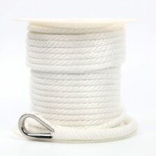 Premium Boat Anchor Line 3/8 Inch 100FT Solid Braided Nylon Rope Much Durable