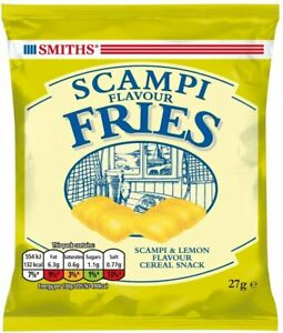 Smiths Scampi Fries x 24 Packets on Hanging Card