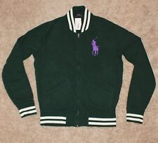 $145 BRAND NEW Polo RALPH LAUREN Cotton Jacket MEDIUM M Big Pony Track GREEN nwt