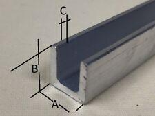 Aluminum U CHANNEL Various Sizes 500mm - 5000mm LONG !!!
