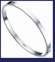 Bangle Solid Silver Bracelet Ladies Hinged Crossover Sterling Silver