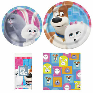 Secret Life of Pets 2 Happy Birthday 3 Piece Party Pack Table Cover - Serves 8