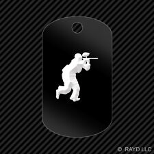 Paintball Keychain GI dog tag engraved many colors  #4