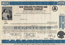 New England Telephone & Telegraph Company bond dated 1960s-1970's