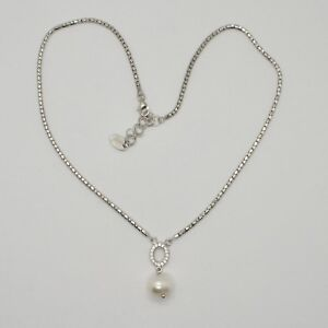 Choker Silver 925 Pearls Hope By Maria Ielpo Zircon Made IN Italy