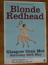 Blonde Redhead - Glasgow may 2007 concert tour gig poster