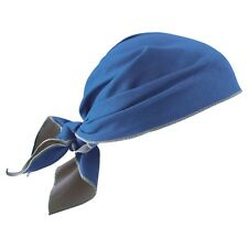 Ergodyne Chill-Its 6710MF Evaporative Microfiber Cooling Triangle Hat, Blue
