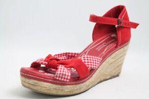 Marco Tozzi Sandaletten rot Textil Retro Gr. 40 (UK 6,5)