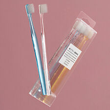 4Pcs/Set Clear Plastic Crystal Handle Toothbrush Soft Bristle Small Head New