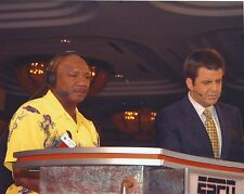 BRIAN KINNEY & MARVELOUS MARVIN HAGLER 8X10 PHOTO BOXING PICTURE ESPN