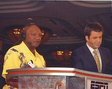 BRIAN KINNEY & MARVELOUS MARVIN HAGLER 8X10 PHOTO BOXING PICTURE ESPN