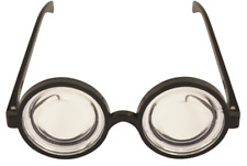 Doctor NERD Geek Specs School Disco Thick Lenses Glasses Kids Fancy Dress Round