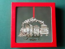 Gorham Santa'S Train Silverplated Christmas Ornament w Box-Vgc