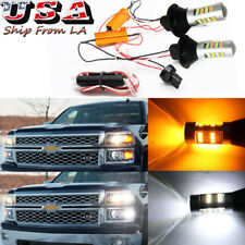 LED Swtichback Daytime Running Turn Signal Light DRL for Chevy Silverado 1500