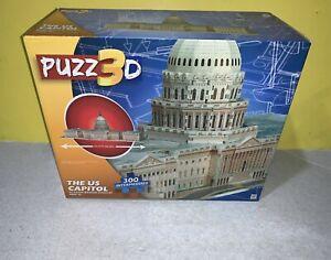 2013 New Milton Bradley Puzz3D The US Capitol 300 Pc 3D Foam Backed Puzzle