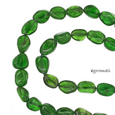 """16"""" Emerald Green Russian Diopside Nugget Beads ap.6.5-7.5mm #85489"""