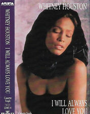 WHITNEY HOUSTON I WILL ALWAYS LOVE YOU CASSETTE SINGLE POP SOUL BALLAD