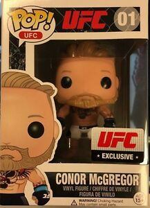 RARE ORIGINAL Conor Mcgregor Funko Pop UFC 194 Exclusive vinyl le (white shorts)