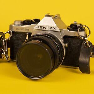 Classic Tested Pentax ME Super 35mm Camera + 28mm 2.8 Lens
