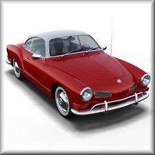 Volkswagen Karman Ghia, Red/White, VW, Refrigerator Magnet, 40 MIL