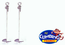 Pair (2) Ground Anchor 520mm Galvanised Swings Trampolines Climbing Frames Heavy