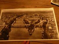 PHOTO AERIENNE 27 cm x 45 cm LAPIE 1958 centre de paris ile de la cite