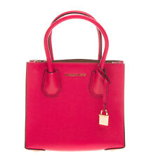 RRP€280 MICHAEL MICHAEL KORS Leather Tote Bag Grainy Padlock Charm Structured