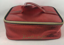 Kendall & Kylie Faux Snakeskin Shiny Red Brush Holder Makeup Purse Pouch Case NT