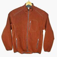 Duluth Trading Company Mens Size Large PolarTec Orange Full Zip Jacket