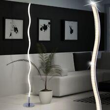 LED 12 Watt Stand Lampe Wohn Zimmer Lese Beleuchtung Wellen Steh Leuchte silber