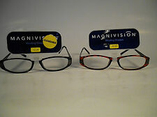 READING GLASSES with SPRING - MAGNIVISION/FOSTER GRANT - RACHEL BROWN OR BLACK