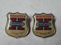 Winchester Super X Law Enforcement Pins - Lot of 2 - Hat Vest Shirt