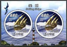 Korea 2008 Sailing Boats Ships Nina Birds Lighthouses S/S MNH**