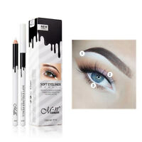 White Waterline Eyeliner Pencil Waterproof Highlight Eyeliner Matte Shadow Kit