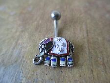 Navel Ring Jewelry Piercing Silver Ganesha Elephant Belly Button