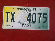 License Plate Tag Mississippi Taxi TX 4075 Rustic USA