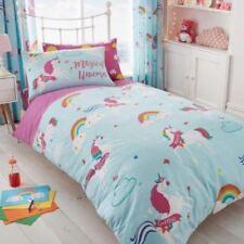 Ropa de cama color principal azul de poliéster para niños de mariposas