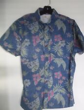 Hollister Casual Shirt Hawaiian flowers and leaves short sleeve XL 100% cotton