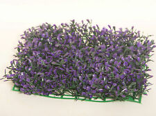 Artificial Purple Fake Flower Mat Patio Hedge Plant Grass Lawn Turf Tree Topiary