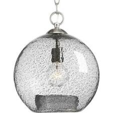 Progress Lighting Malbec Collection 1-Light Brushed Nickel Pendant
