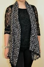 NEXT NEW UK 12 LADIES BLACK LACE TOP WITH SOFT SCARF RRP £28