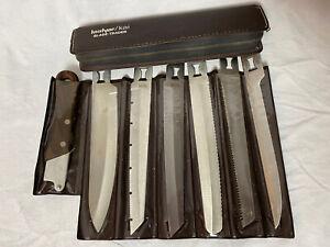VTG Kershaw Kai Blade Trader Kitchen Camping Knife Set 6 Blades Case 1099 Japan