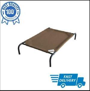 Pet Cot Large Dog Bed Elevated Outdoor Raised Indoor Steel Frame Nutmeg Coolaroo