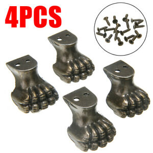 4pcs Antique Decorative Feet Corner Protector Jewelry Box Wood Case Stand Tool