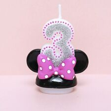 "Minnie Mouse Third Birthday Candle / Keepsake Topper  2-1/2""X2"""