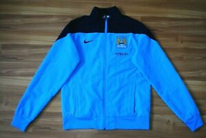 SIZE S MANCHESTER CITY 2013/2014 NIKE FOOTBALL TRACK TOP JACKET SMALL FULL ZIP
