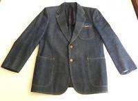 Vintage LEONARD Fashion Paris silk & denim blazer / jacket men's Small JAPAN