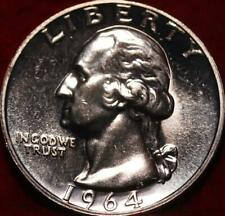 Uncirculated Proof 1964 Philadelphia Mint Silver Washington Quarter