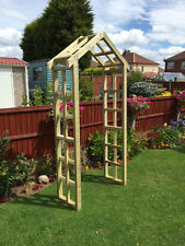 wooden garden arch--- free local delivery or postage---