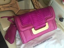 Authentic Diane von Furstenberg Lamb Leather Chain Shoulder Bag Clutch RRP$825